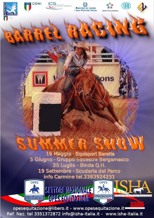 BARREL RACING -SUMMER SHOW @ GRUPPO EQUESTRE BERGAMASCO