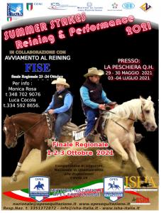 ISCRIVITI AL REINING E PERFORMANCE ISHA -FISE  LA PESCHIERA Q.H. @ LA PESCHIERA QUARTER HORSES