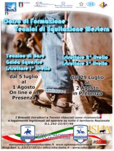 CORSO ISTRUTTORI -GUIDE EQUESTRI E TECNICI DI BASE @ opes equitazione -ISHA