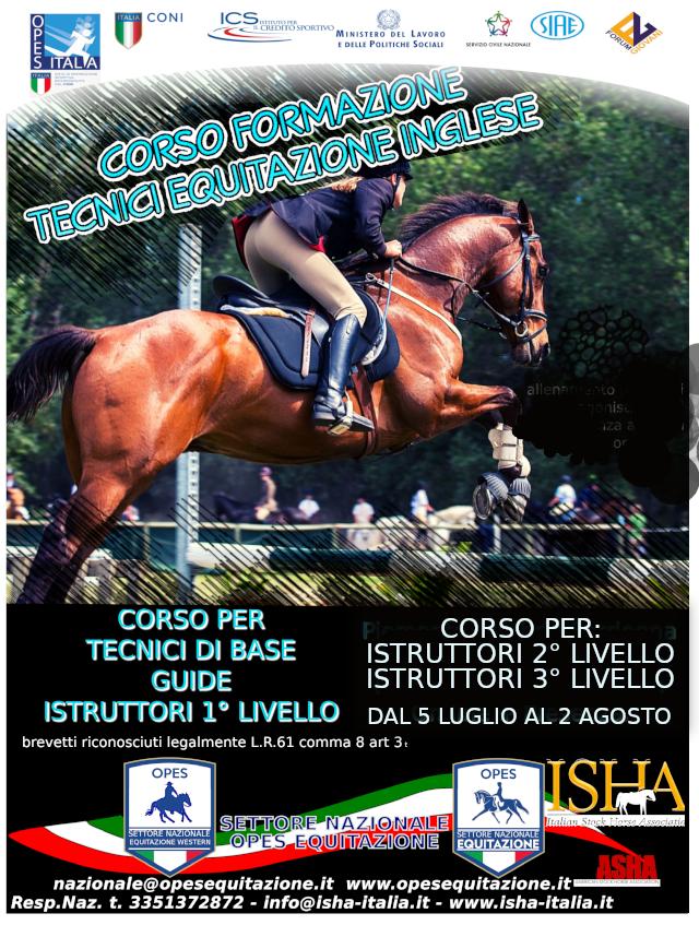 CORSO ISTRUTTORI MONTA INGLESE -TECNICI BASE -GUIDE @ opes equitazione